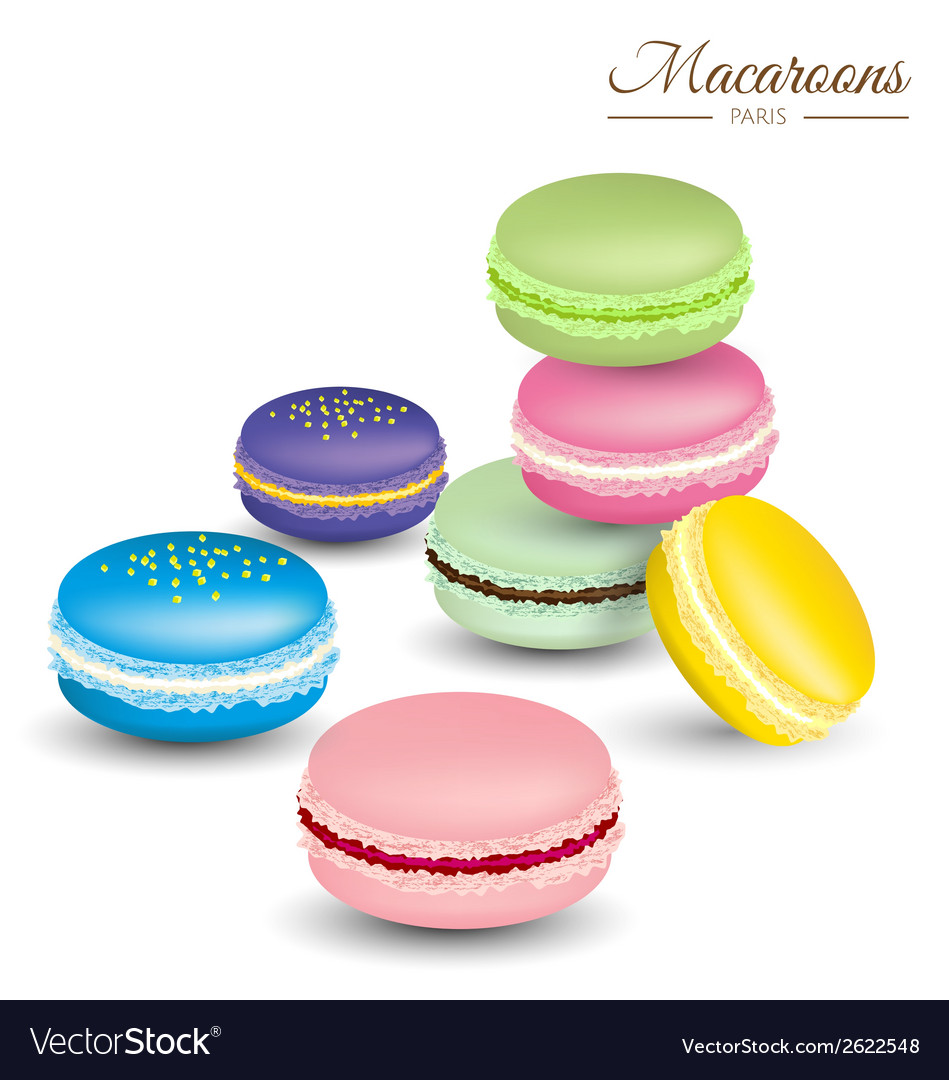 Tasty colorful french macaroons vector | Price: 1 Credit (USD $1)