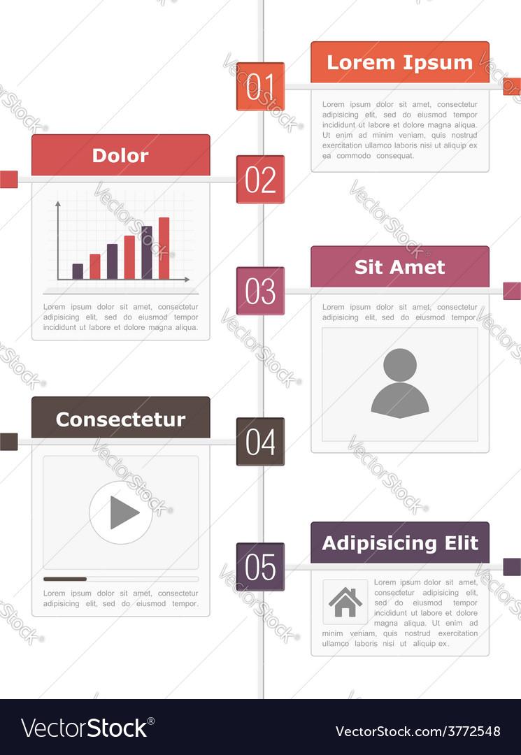 Timeline infographics vector   Price: 1 Credit (USD $1)