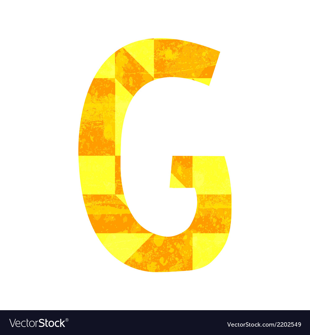 Abstract color alphabet g vector   Price: 1 Credit (USD $1)