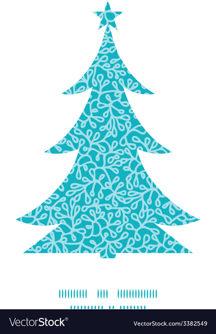 Abstract underwater plants christmas tree vector | Price: 1 Credit (USD $1)