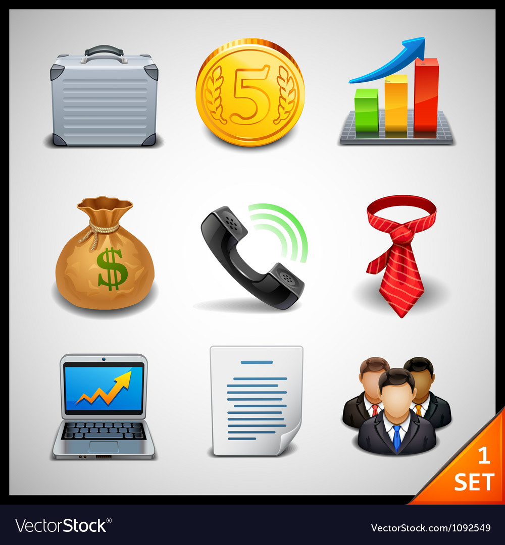 Business icons - set 1 vector | Price: 3 Credit (USD $3)
