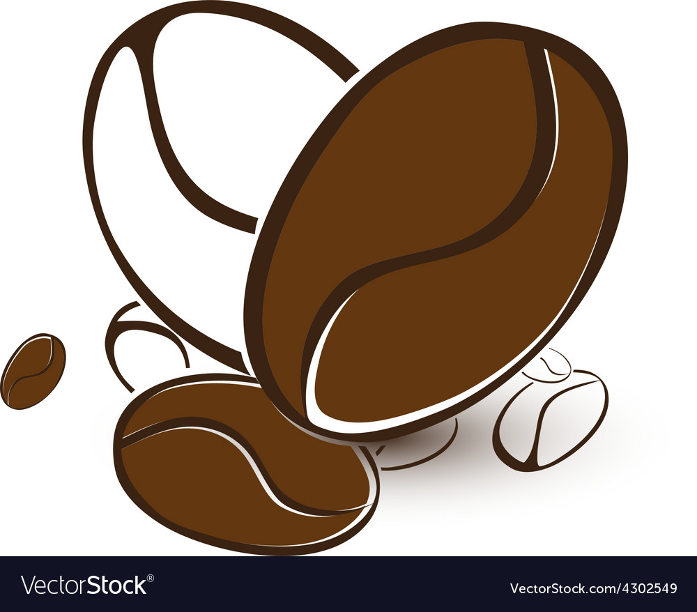 Coffee bean heart vector | Price: 1 Credit (USD $1)