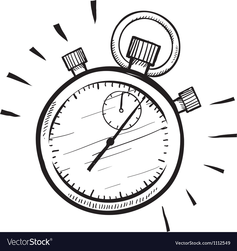 Doodle stopwatch timer time speed vector | Price: 1 Credit (USD $1)