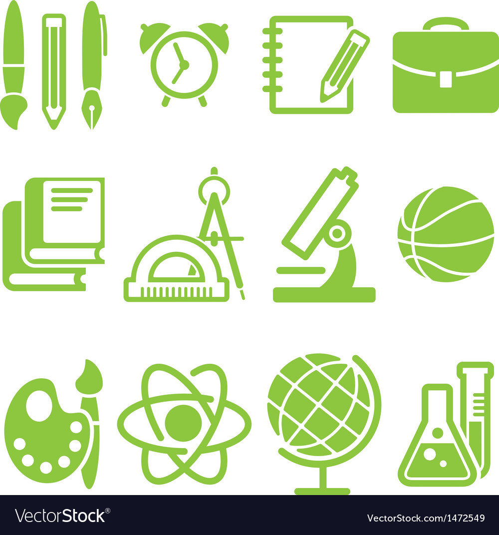 Education school symbol collection vector | Price: 3 Credit (USD $3)