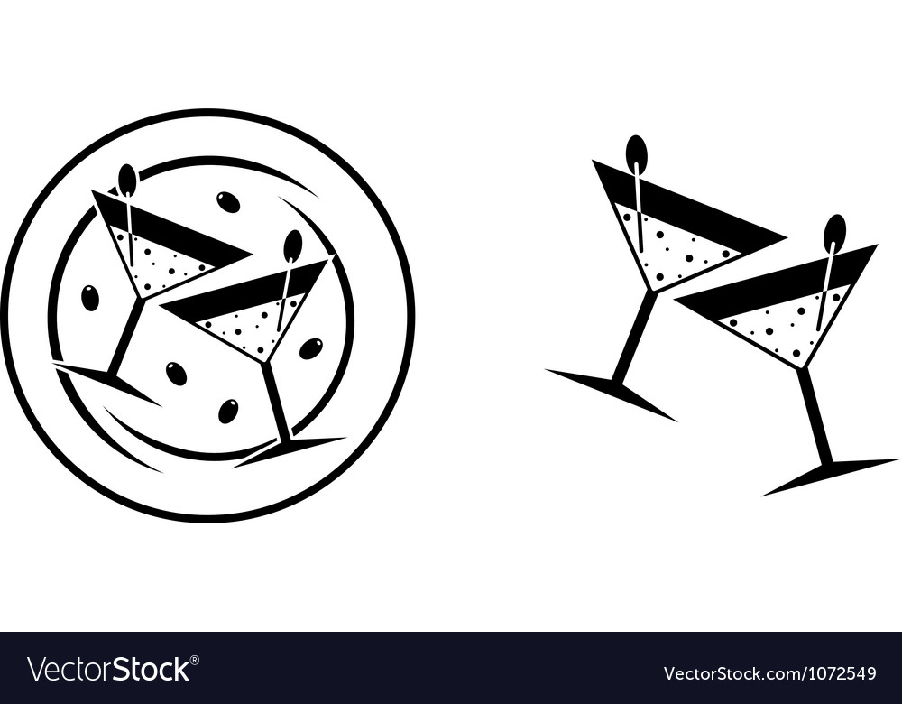 Glasses for cocktails vector | Price: 1 Credit (USD $1)
