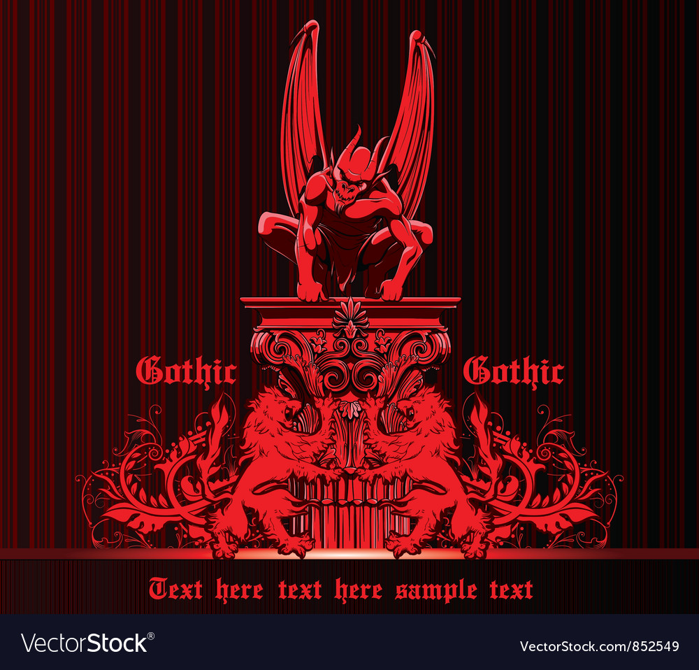 Gothic emblem vector | Price: 1 Credit (USD $1)