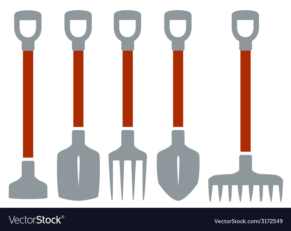 Isolated tools for gardening work vector | Price: 1 Credit (USD $1)