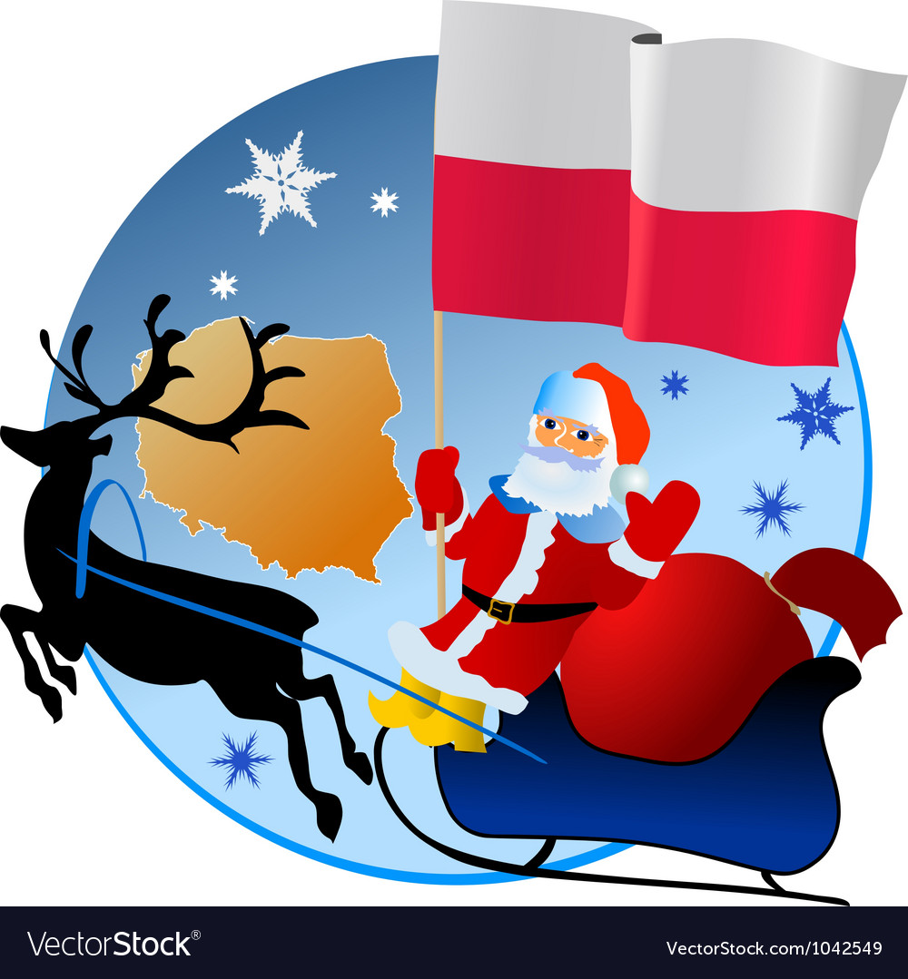 Merry christmas poland vector | Price: 1 Credit (USD $1)