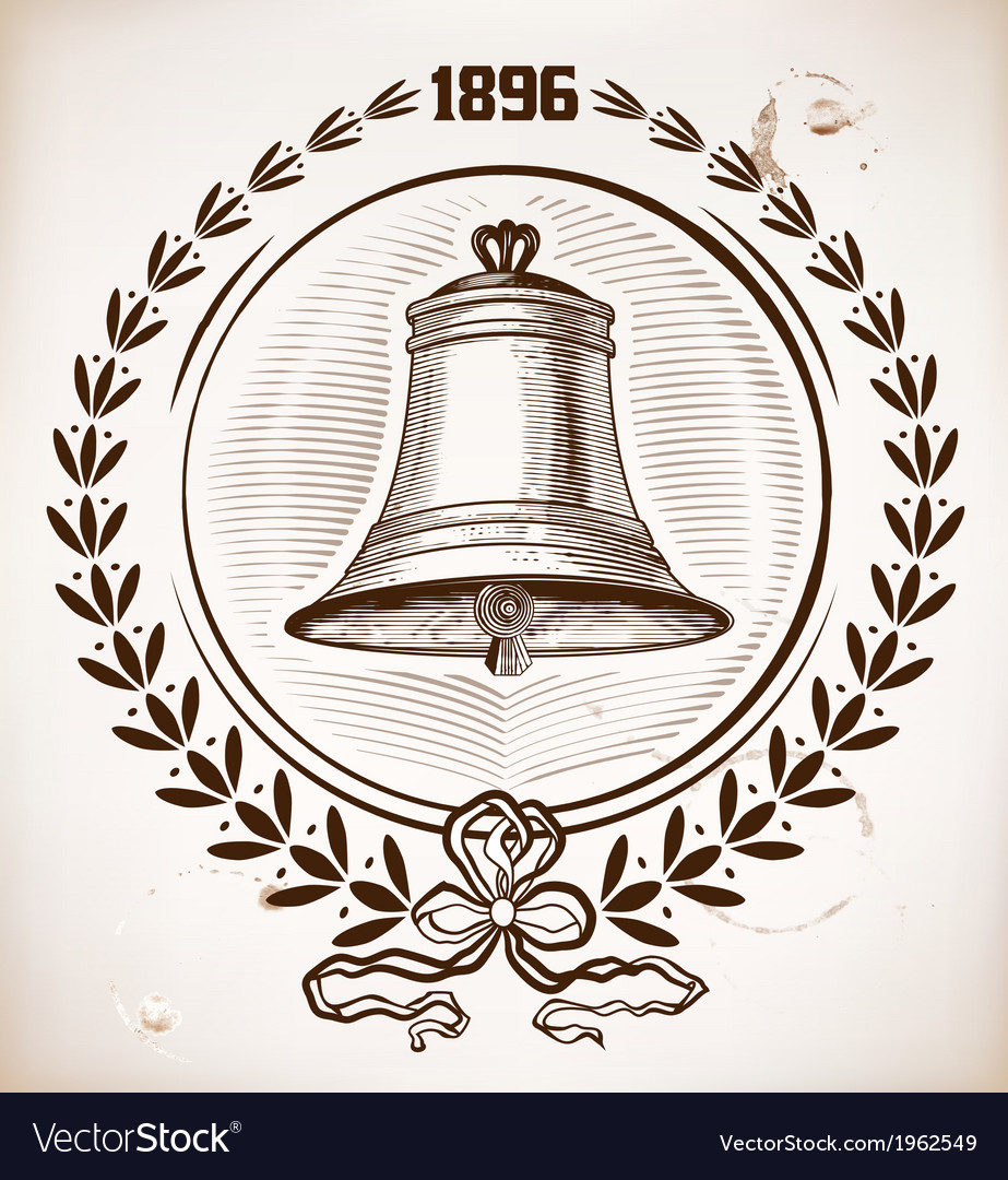 Old bell card vector | Price: 1 Credit (USD $1)