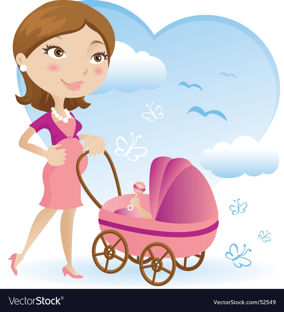 Pregnant mother vector | Price: 1 Credit (USD $1)