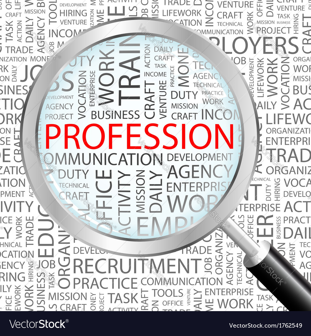 Profession vector | Price: 1 Credit (USD $1)