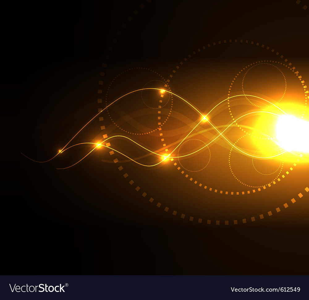 Stylized glowing background with digital symbols vector | Price: 1 Credit (USD $1)