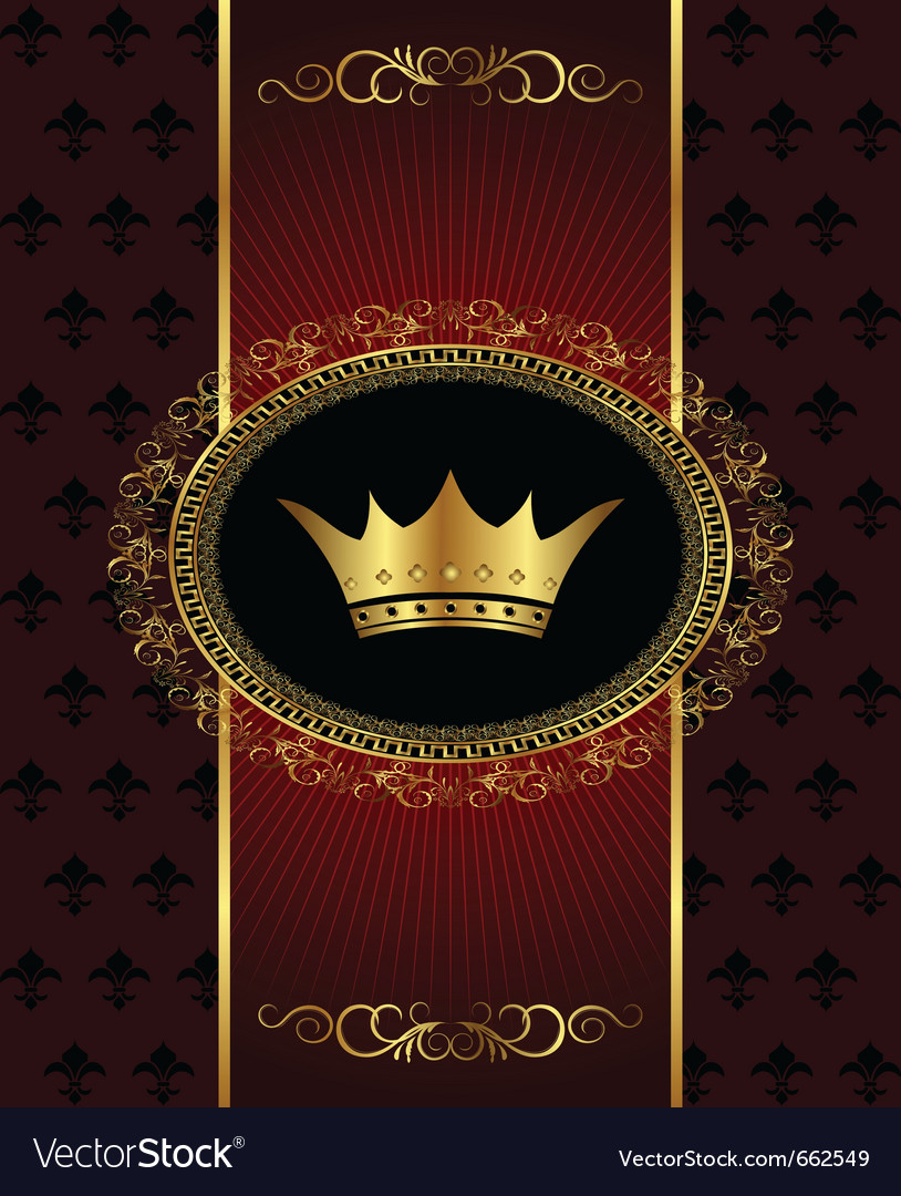 Vintage background with crown - vector   Price: 1 Credit (USD $1)