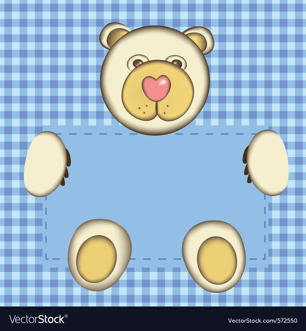 Bear for baby boy vector | Price: 1 Credit (USD $1)