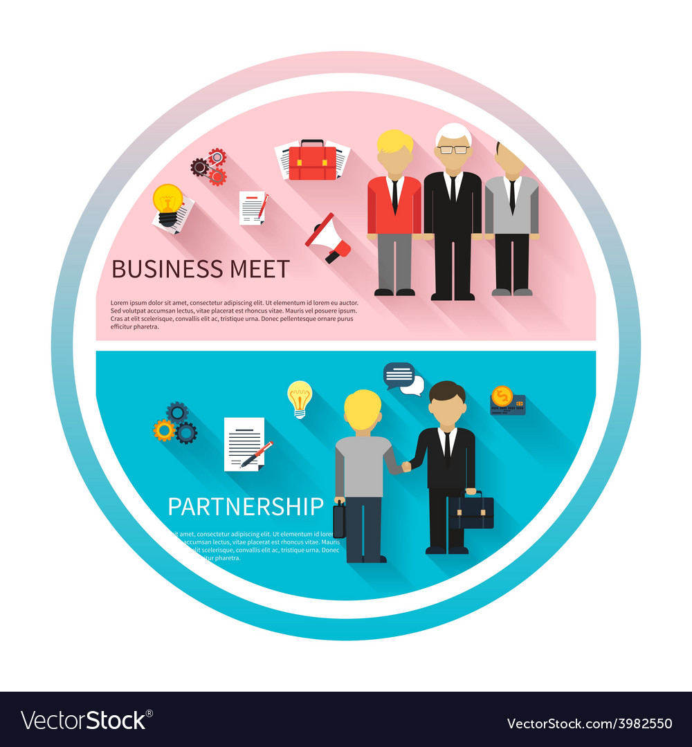 Concept of business meeting teamwork partnership vector | Price: 1 Credit (USD $1)