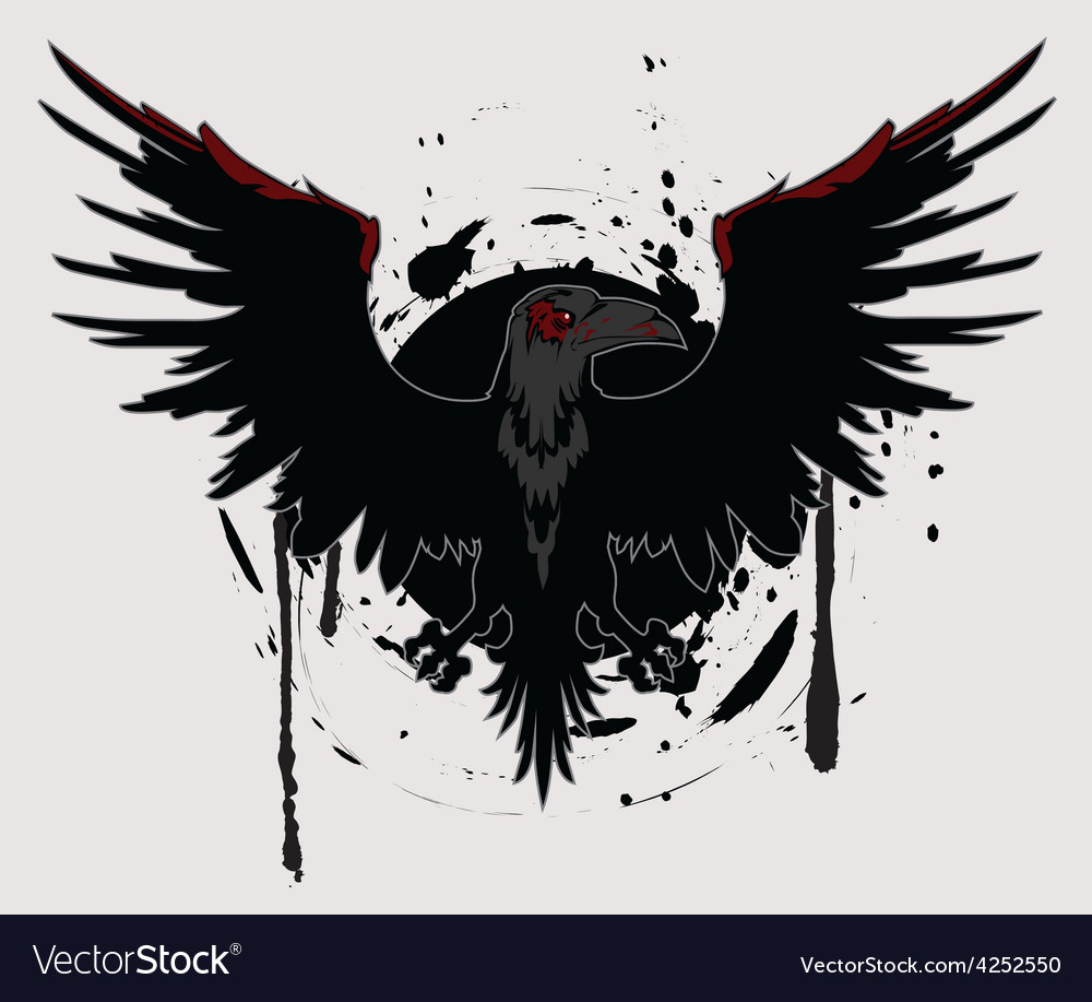 Dark raven vector | Price: 1 Credit (USD $1)