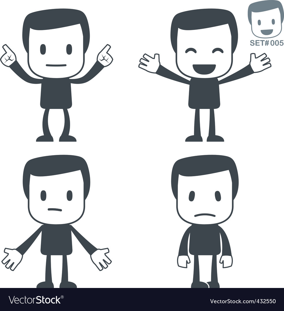 Emotions icon man vector | Price: 1 Credit (USD $1)