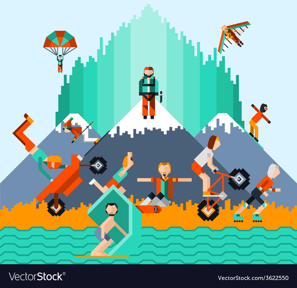 Extreme sports concept vector | Price: 1 Credit (USD $1)