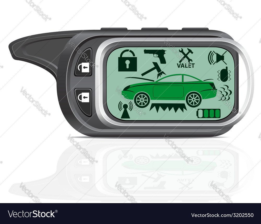 Remote car alarm 02 vector | Price: 1 Credit (USD $1)