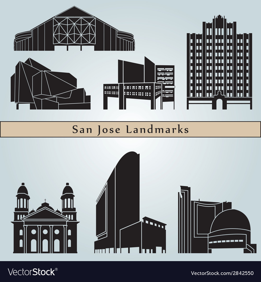 San jose landmarks and monuments vector | Price: 1 Credit (USD $1)