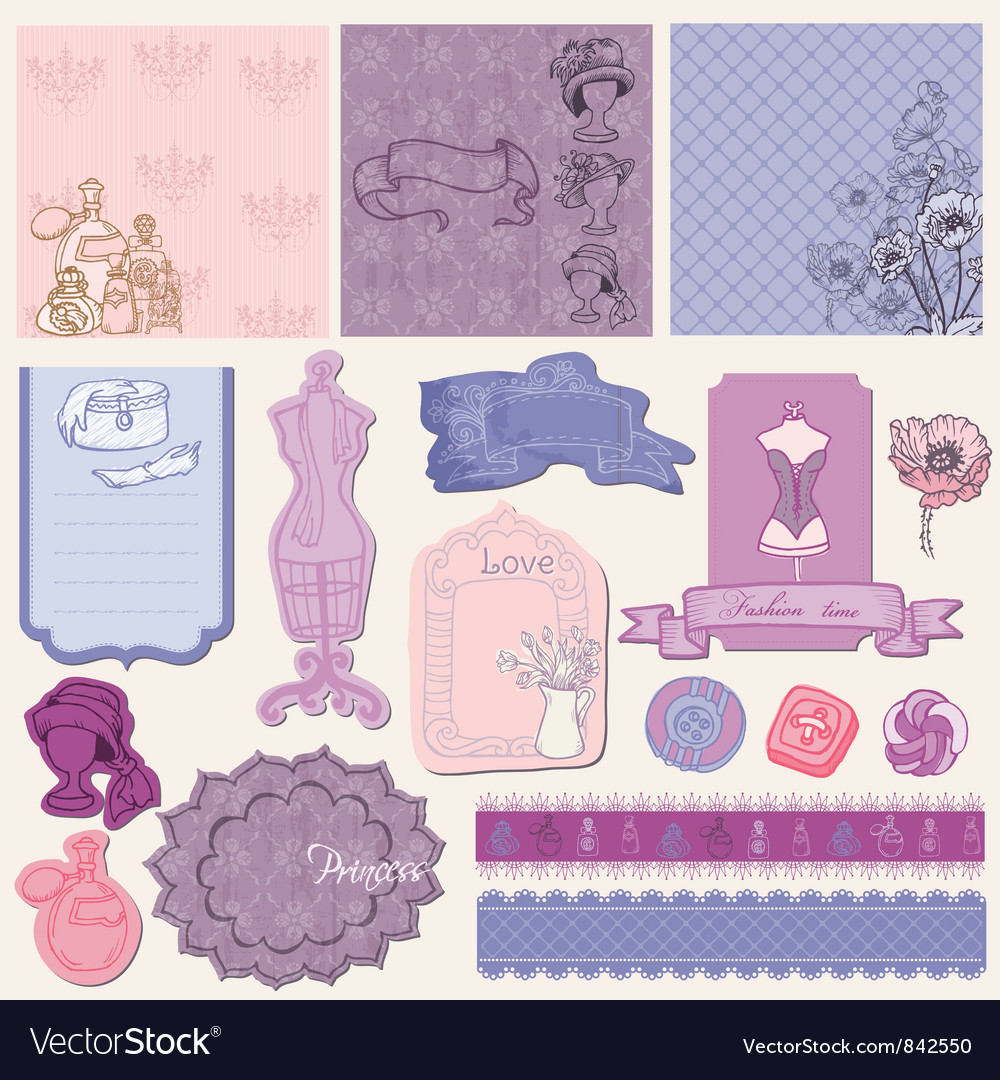 Scrapbook desgin elements vector | Price: 1 Credit (USD $1)