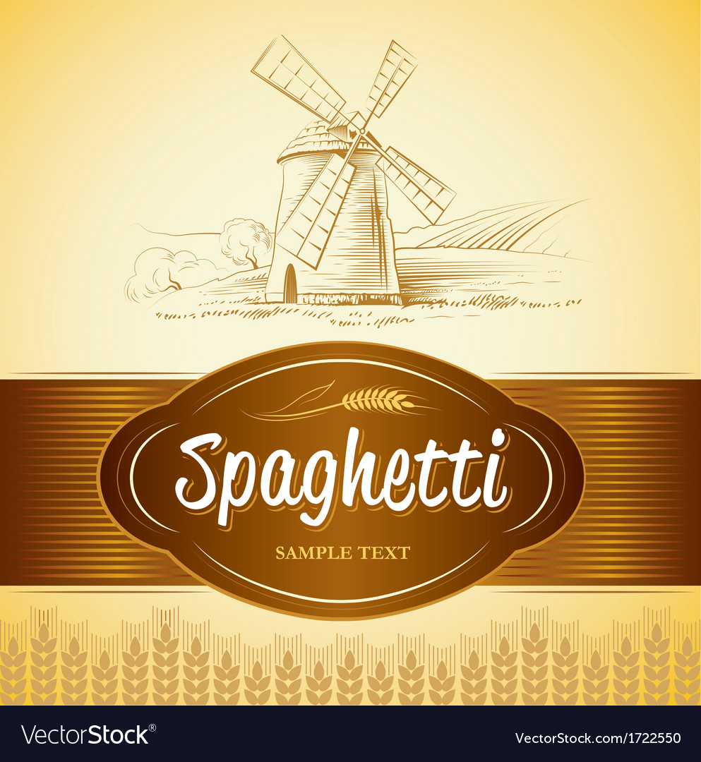 Spaghetti and windmill vector | Price: 1 Credit (USD $1)