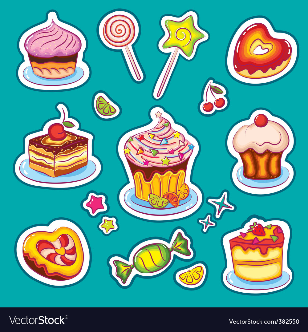 Sweets stickers vector | Price: 1 Credit (USD $1)