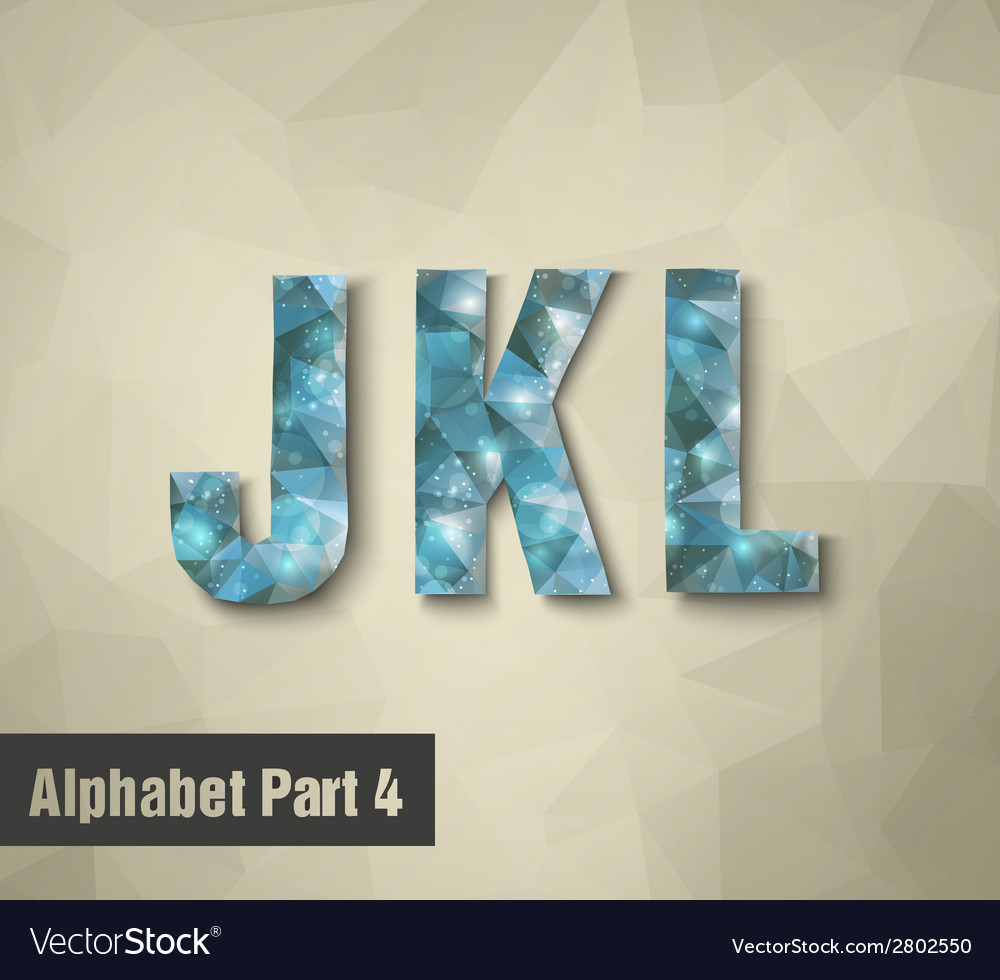 Triangular blue alphabet j k l vector | Price: 1 Credit (USD $1)