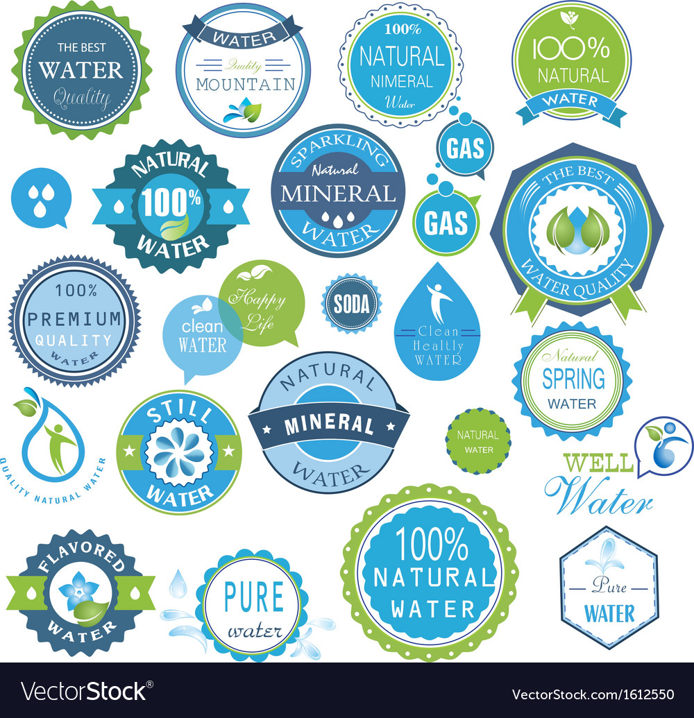 Water recycling symbols vector