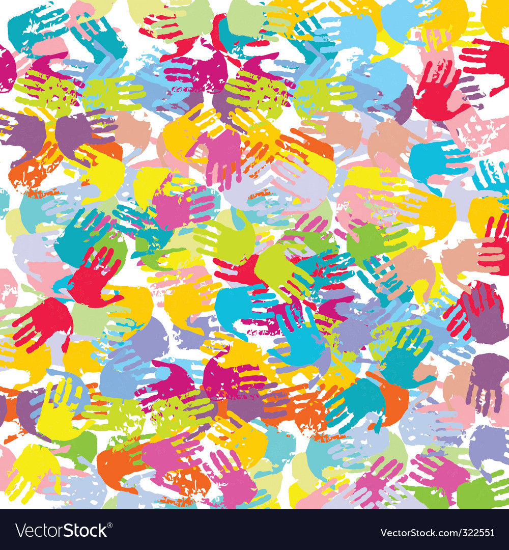 Abstract colored hands background vector | Price: 1 Credit (USD $1)