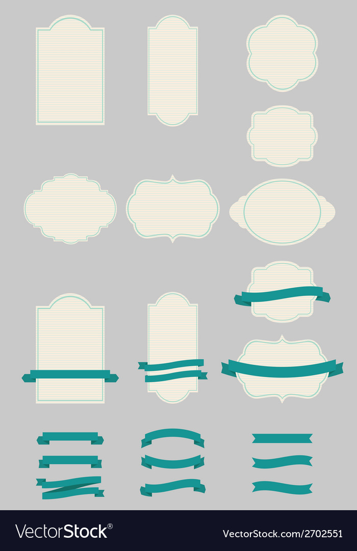 Labels and ribbons vector | Price: 1 Credit (USD $1)