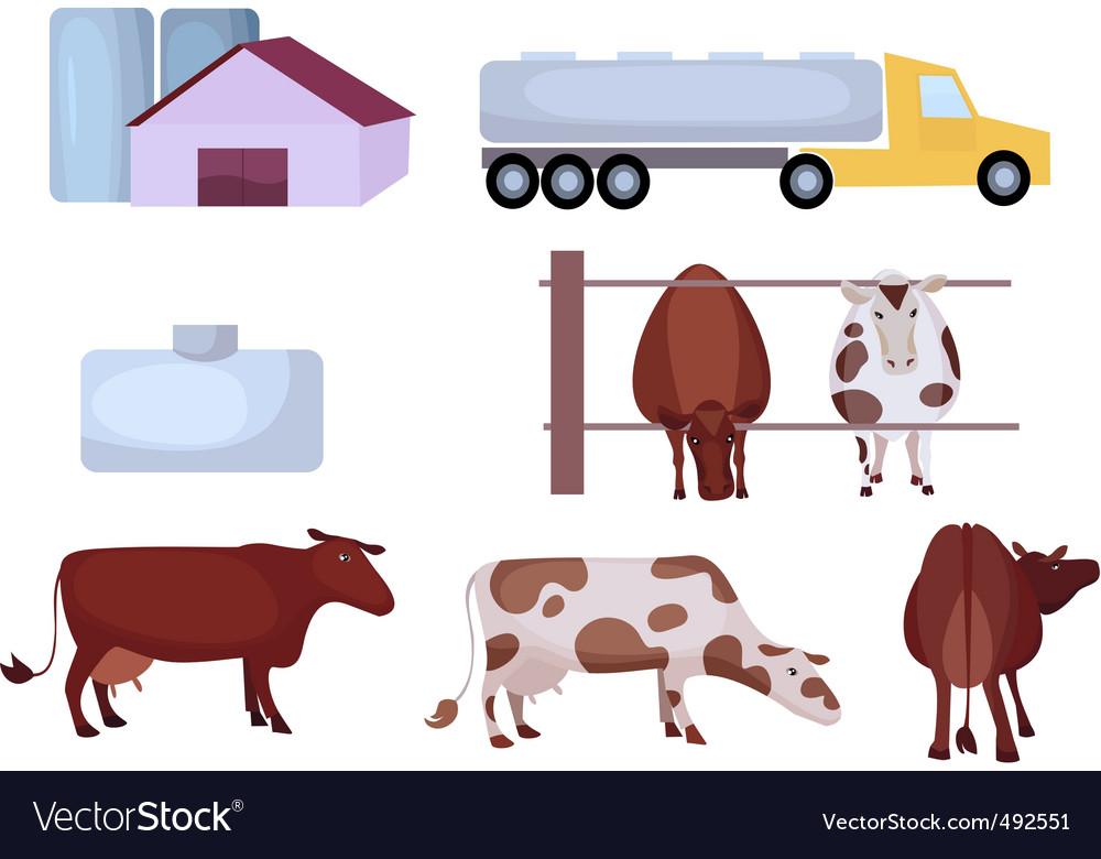 Milk farm vector | Price: 1 Credit (USD $1)