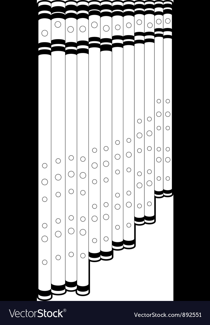 Outline panpipe vector | Price: 1 Credit (USD $1)