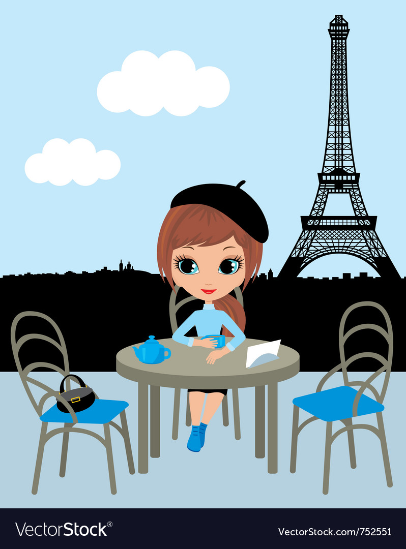 Parisian cafe vector | Price: 3 Credit (USD $3)