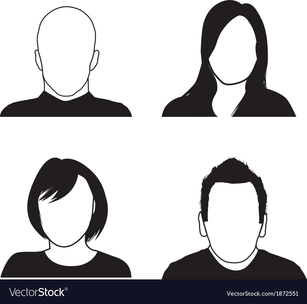 People head silhouettes vector | Price: 1 Credit (USD $1)