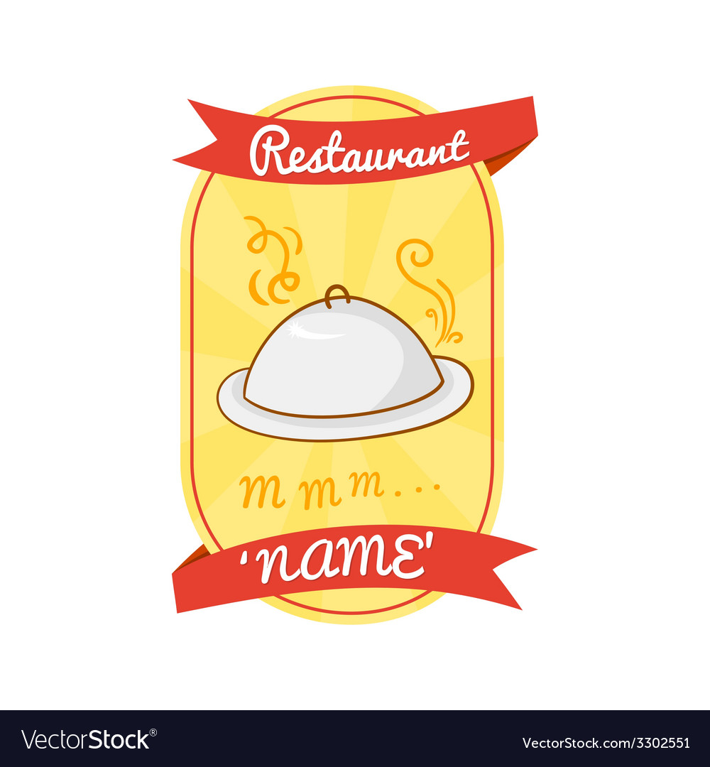 Retro restaurant label vector | Price: 1 Credit (USD $1)