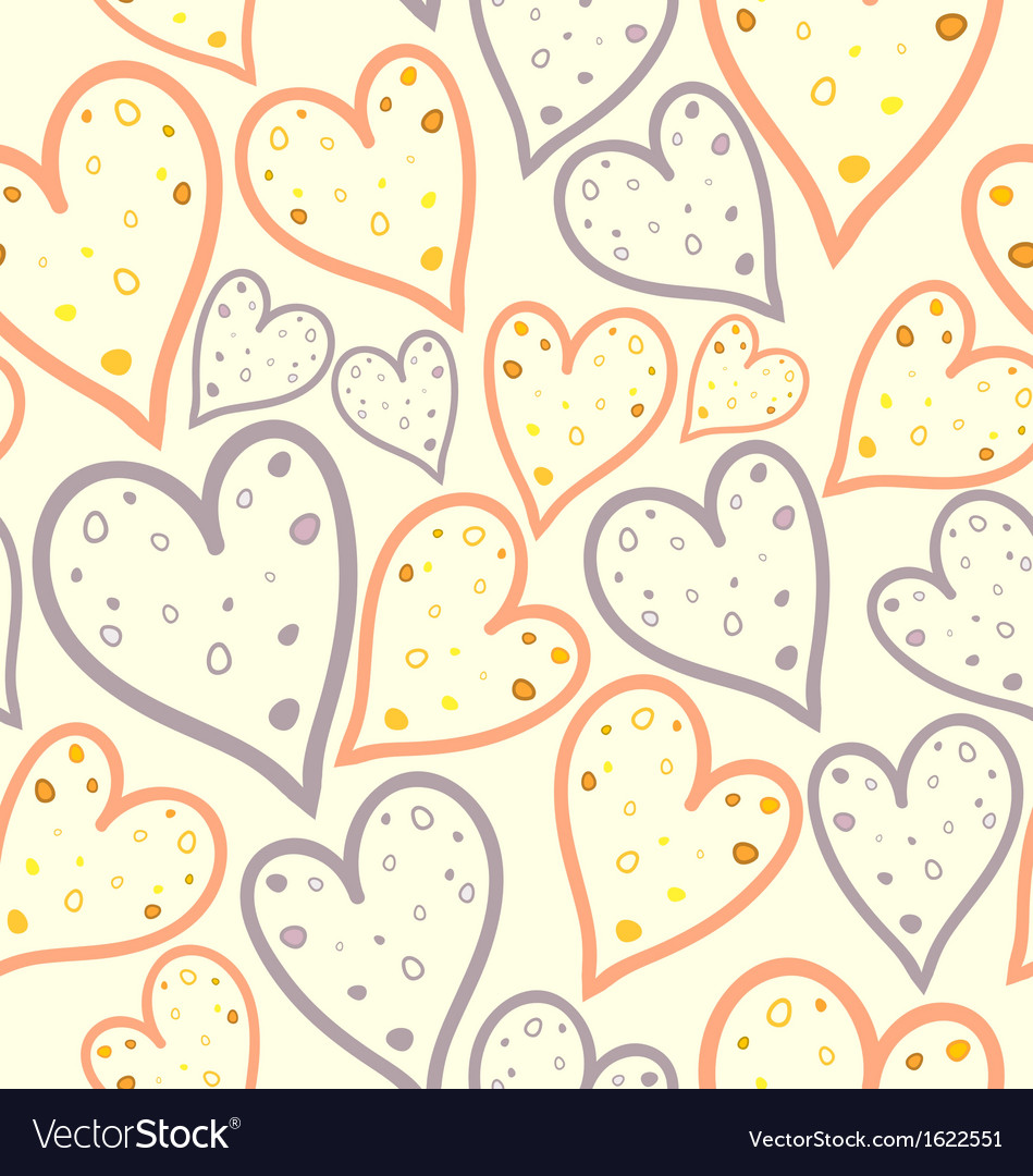 Seamless pattern of dotted hearts vector | Price: 1 Credit (USD $1)