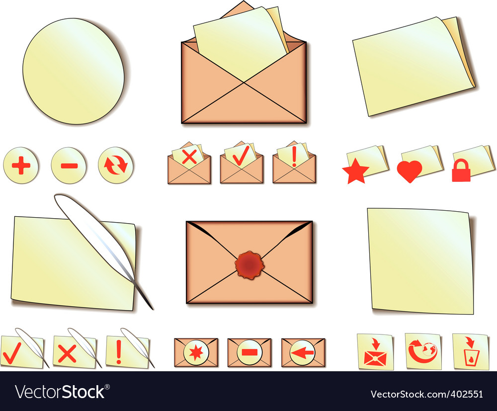Set of icons for email vector | Price: 1 Credit (USD $1)