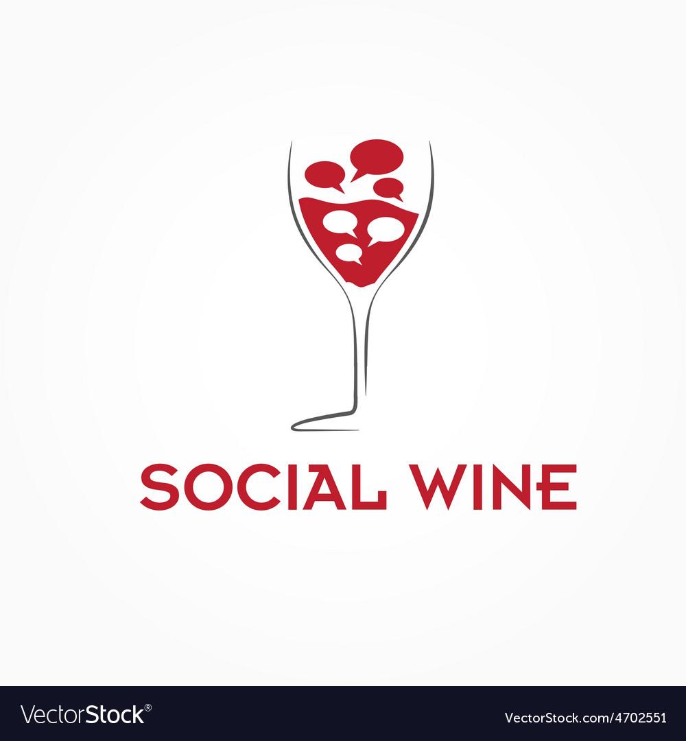 Wineglass design template vector | Price: 1 Credit (USD $1)