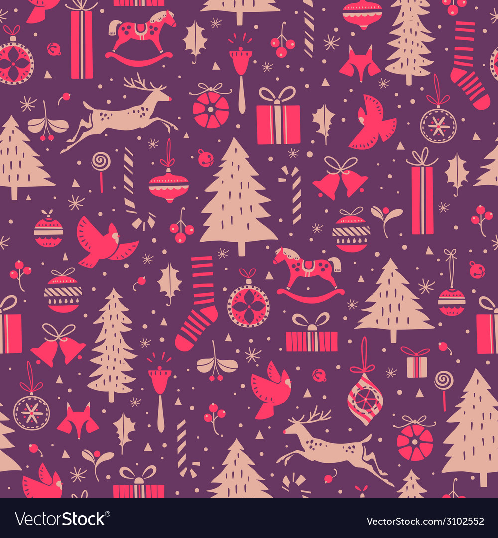 Christmas winter pattern vector