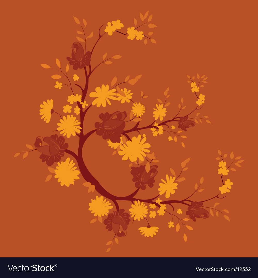 Floral nature graphic vector | Price: 1 Credit (USD $1)