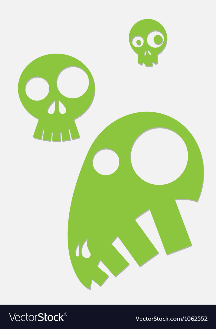 Green stylized skull vector | Price: 1 Credit (USD $1)