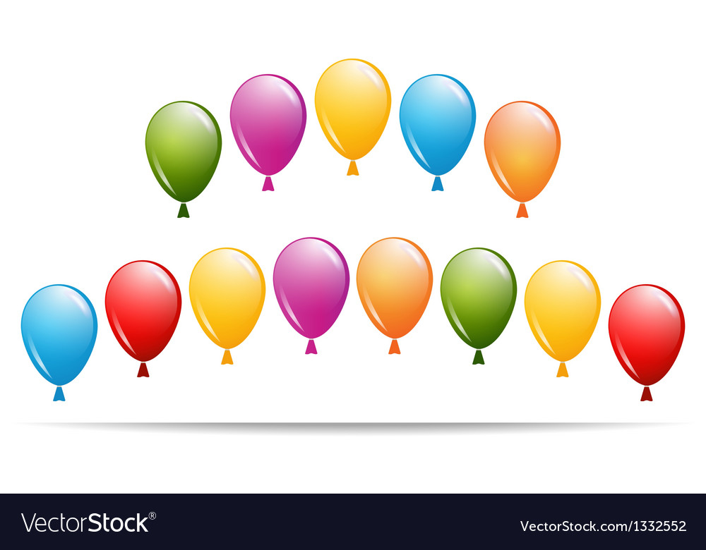 Greeting card with balloons vector | Price: 1 Credit (USD $1)
