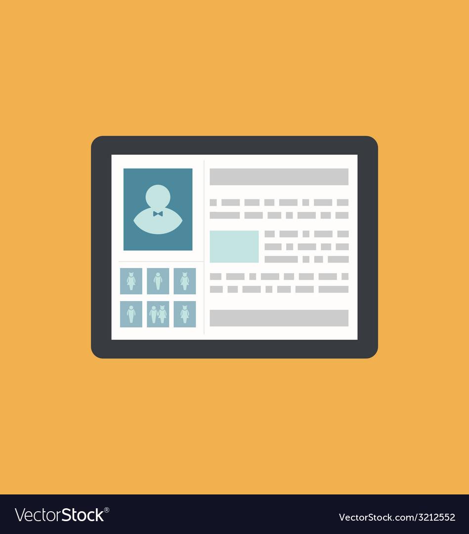 Id card profile person social media network icon - vector | Price: 1 Credit (USD $1)