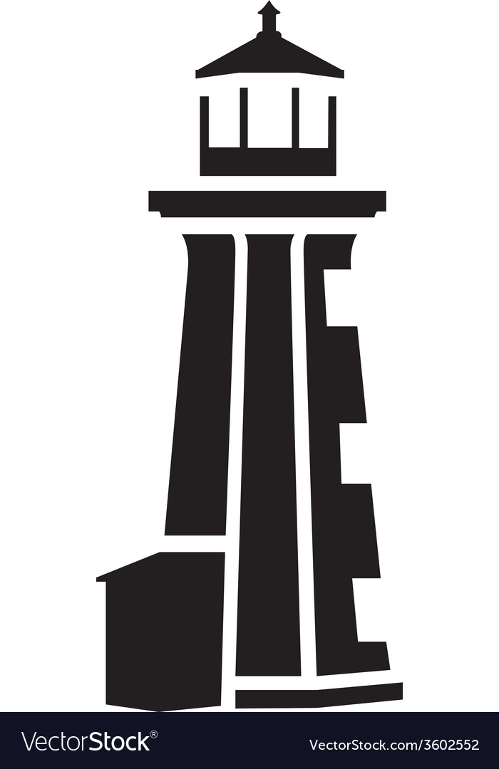 Lighthouse silhouette vector | Price: 1 Credit (USD $1)