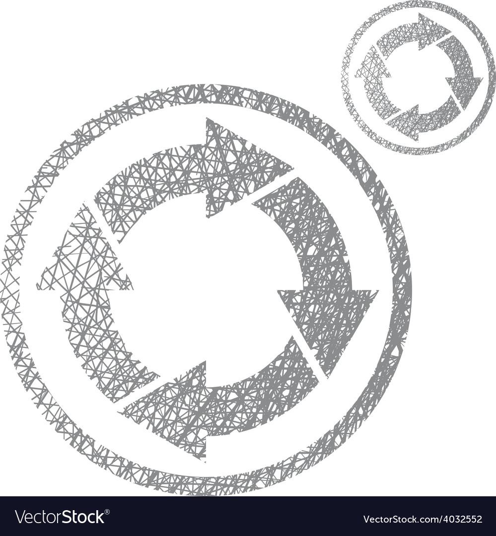 Loop arrows conceptual symbol simple single color vector   Price: 1 Credit (USD $1)