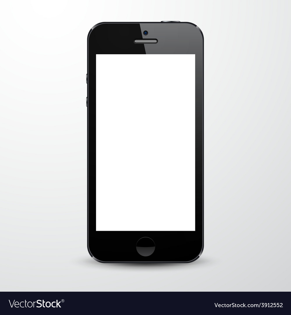 Realistic black smartphone vector | Price: 1 Credit (USD $1)