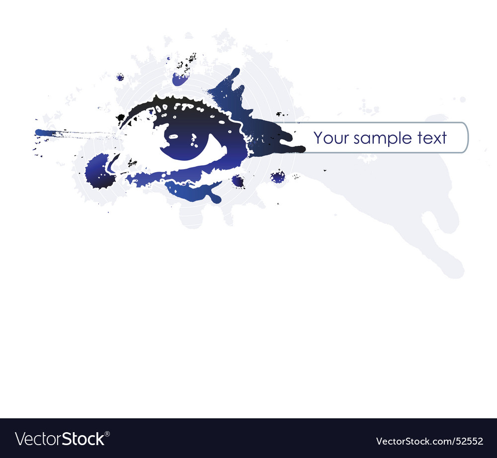Splash eye banner vector | Price: 1 Credit (USD $1)