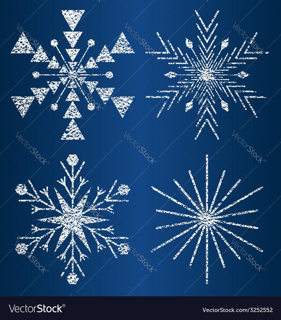 Textured snowflakes 3 vector | Price: 1 Credit (USD $1)