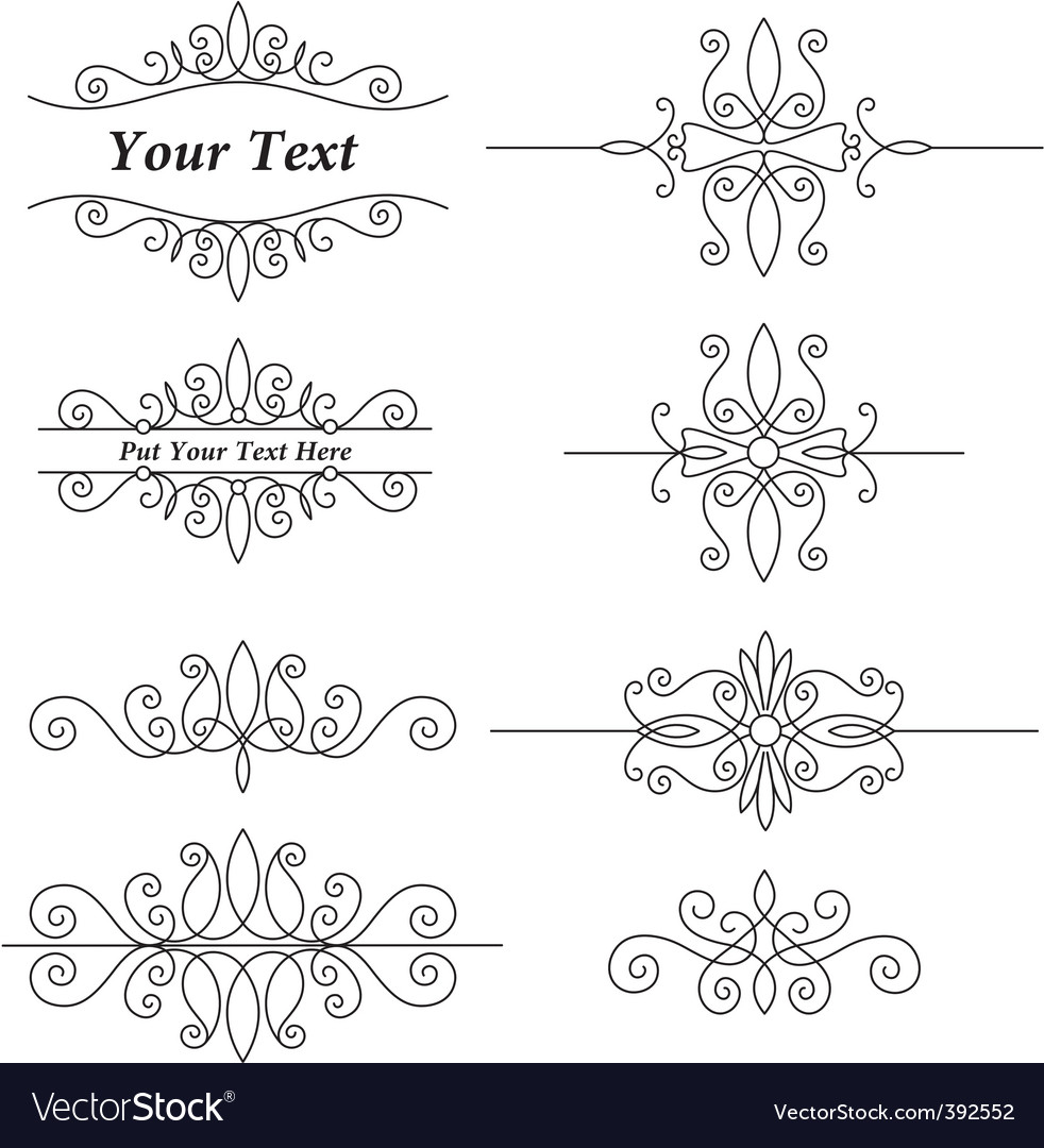Vintage ornaments set vector | Price: 1 Credit (USD $1)